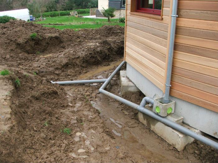 Viabilisation de ti logell ti koad notre maison bois - Evacuation eaux pluviales maison individuelle ...