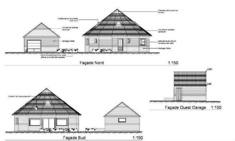 Plans int rieurs ext rieurs ti logell maison ronde for Plan des facades